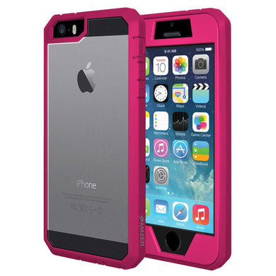 AMZER Full Body Hybrid Cover With Built-in Screen Protector for iPhone 5