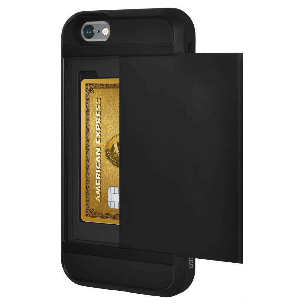 AMZER Full Body Hybrid Credit Card Case With Holster for iPhone 6 Plus - Black