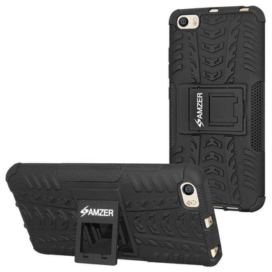 AMZER Shockproof Warrior Hybrid Case for Xiaomi Mi 5 - Black/Black - amzer