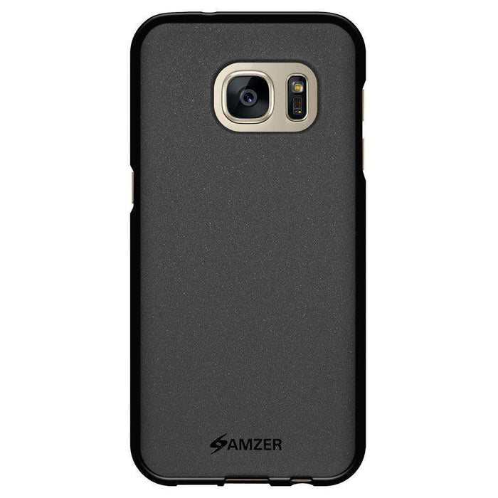 AMZER Pudding Soft TPU Skin Case for Samsung GALAXY S7 SM-G930F - Black - amzer