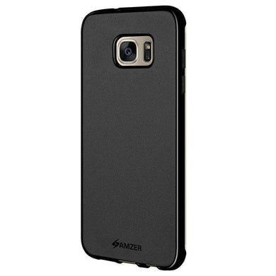 AMZER Pudding Soft TPU Skin Case for Samsung GALAXY S7 Edge SM-G935F - Black