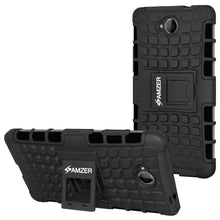 Load image into Gallery viewer, AMZER Shockproof Warrior Hybrid Case for Microsoft Lumia 650 - Black/Black - amzer