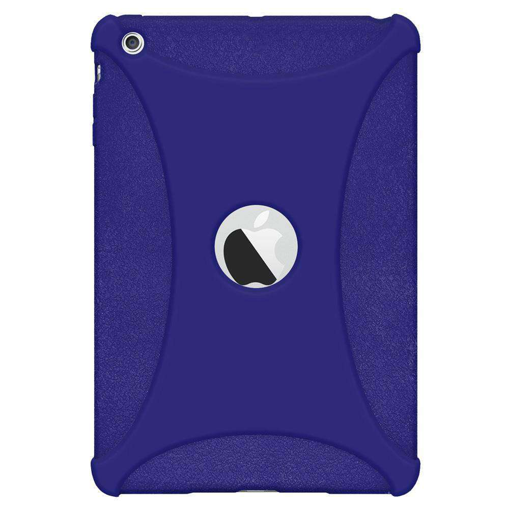 AMZER Shockproof Rugged Silicone Skin Jelly Case for Apple iPad mini - Blue - fommystore