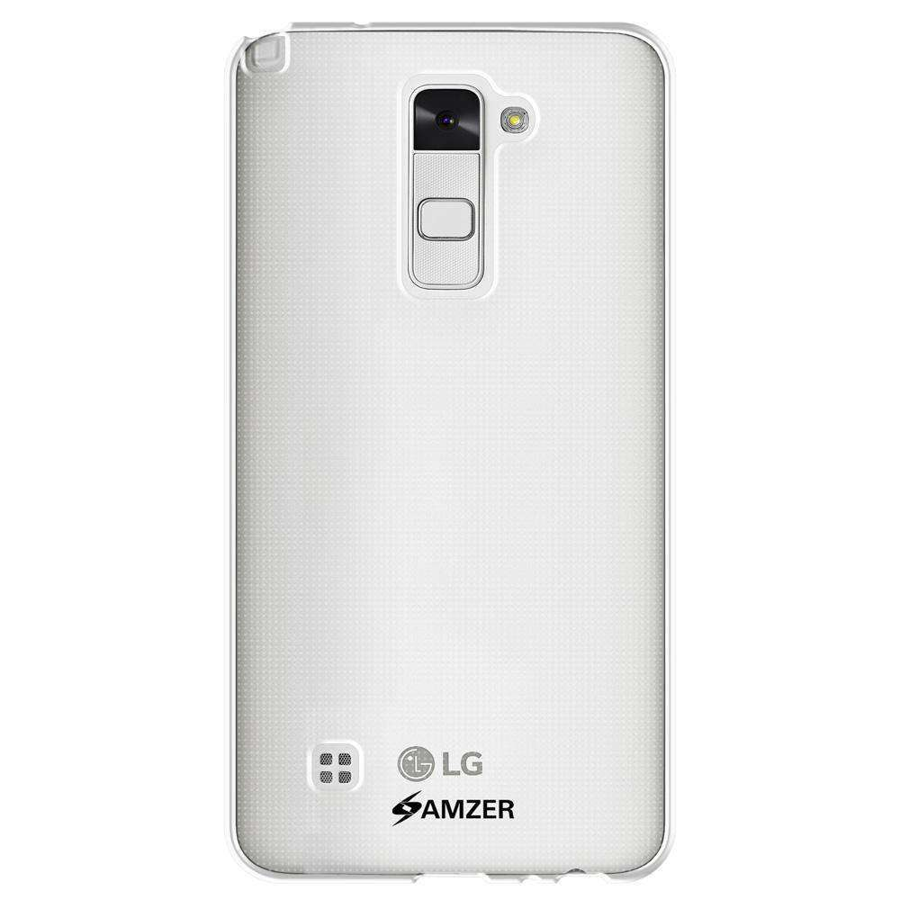 AMZER Pudding Soft TPU Skin Case for LG Stylo 2 LS775 - Clear