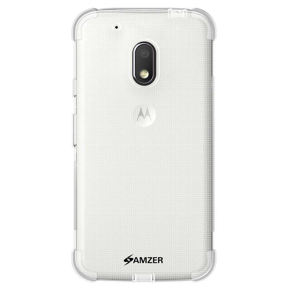 AMZER Pudding TPU Soft Skin X Protection Case for Motorola Moto G4 Play - Clear