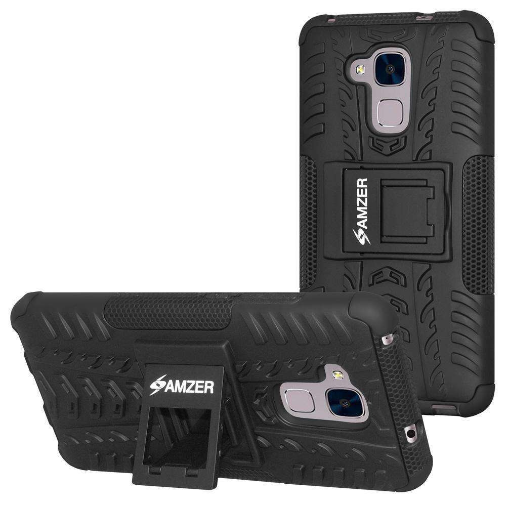 AMZER Hybrid Warrior Case - for Huawei Honor 5C - Black/Black