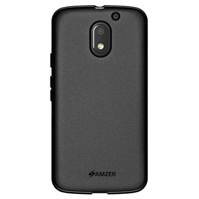 AMZER Pudding Soft TPU Skin Case for Motorola Moto E 3rd Gen - Black - amzer
