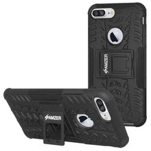 Load image into Gallery viewer, AMZER Shockproof Warrior Hybrid Case for iPhone 7 Plus - Black/Black - amzer