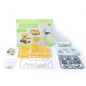 3 in 1 Saltwater Powered Robot Kits DIY Intelligent Toy - amzer