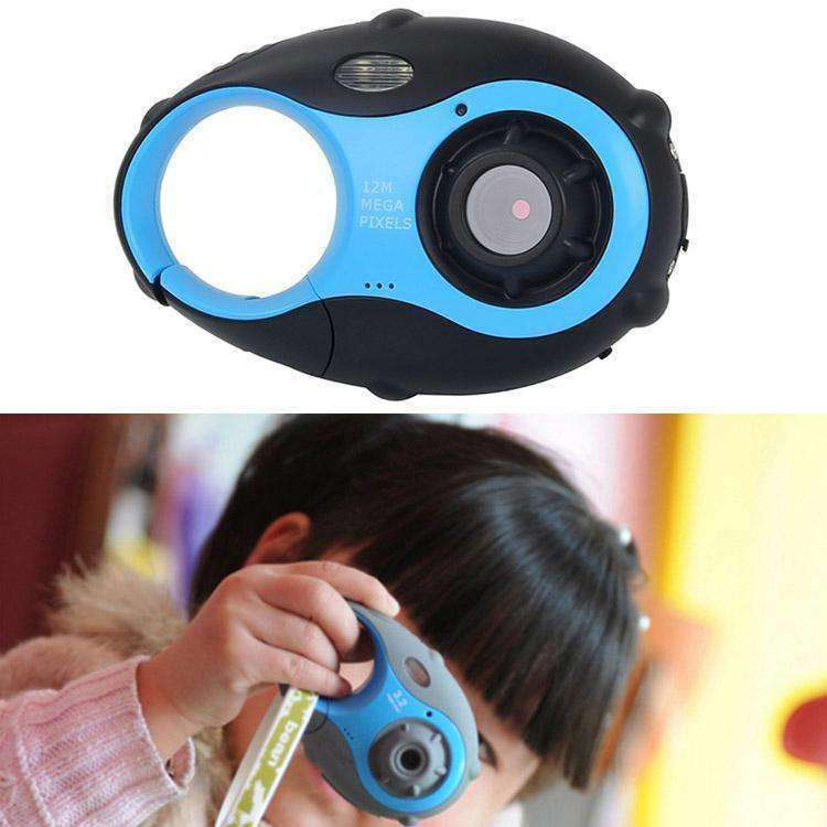 5MP 1.5 inch Color Screen Mini Keychain Type Gift Digital Camera for Children(Blue) - amzer