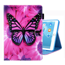 Load image into Gallery viewer, AMZER Coloured Drawing Pattern Horizontal Flip Case with Holder/ Card Slots/ Photo Frame for iPad 10.2