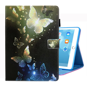 AMZER Coloured Drawing Pattern Horizontal Flip Case with Holder/ Card Slots/ Photo Frame for iPad 10.2