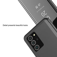 Load image into Gallery viewer, AMZER Mirror Horizontal Flip PU Leather Case With Holder for Samsung Galaxy Note20 Ultra - Black