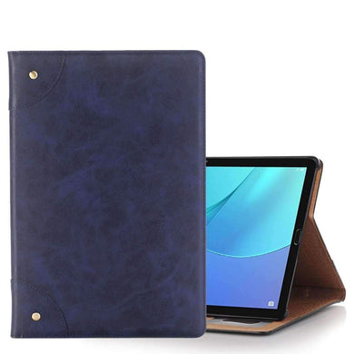 AMZER Flip Leather Case With Holder For Huawei MediaPad M5 10.8 inch - Navy Blue - amzer