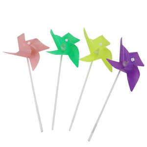 10 PCS LED Luminous Four-leaf Windmill Children Plastic Toy Windmill, Random Color Delivery - amzer