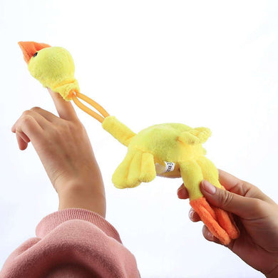 Slingshot Flingshot Flying Screaming Yellow Duck Plush Toy - amzer