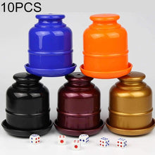 Load image into Gallery viewer, 10 PCS Thickening Plastic Dice Shaker Cup with Bottom without Dice Random Color - amzer