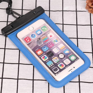 Universal Waterproof Transparent Pouch Glows in Dark Dry Bag With ArmBand function