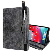 Load image into Gallery viewer, Flip Leather Smart Case With Card/Pen Slot & Strap for iPad Pro 12.9 inch 2018