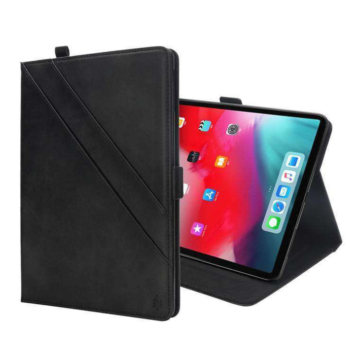 AMZER Premium PU Leather Folio Case for iPad Pro 12.9 inch 2018 with Apple Pencil Magnetic Charging and Card, ID, Wallet Slots - amzer