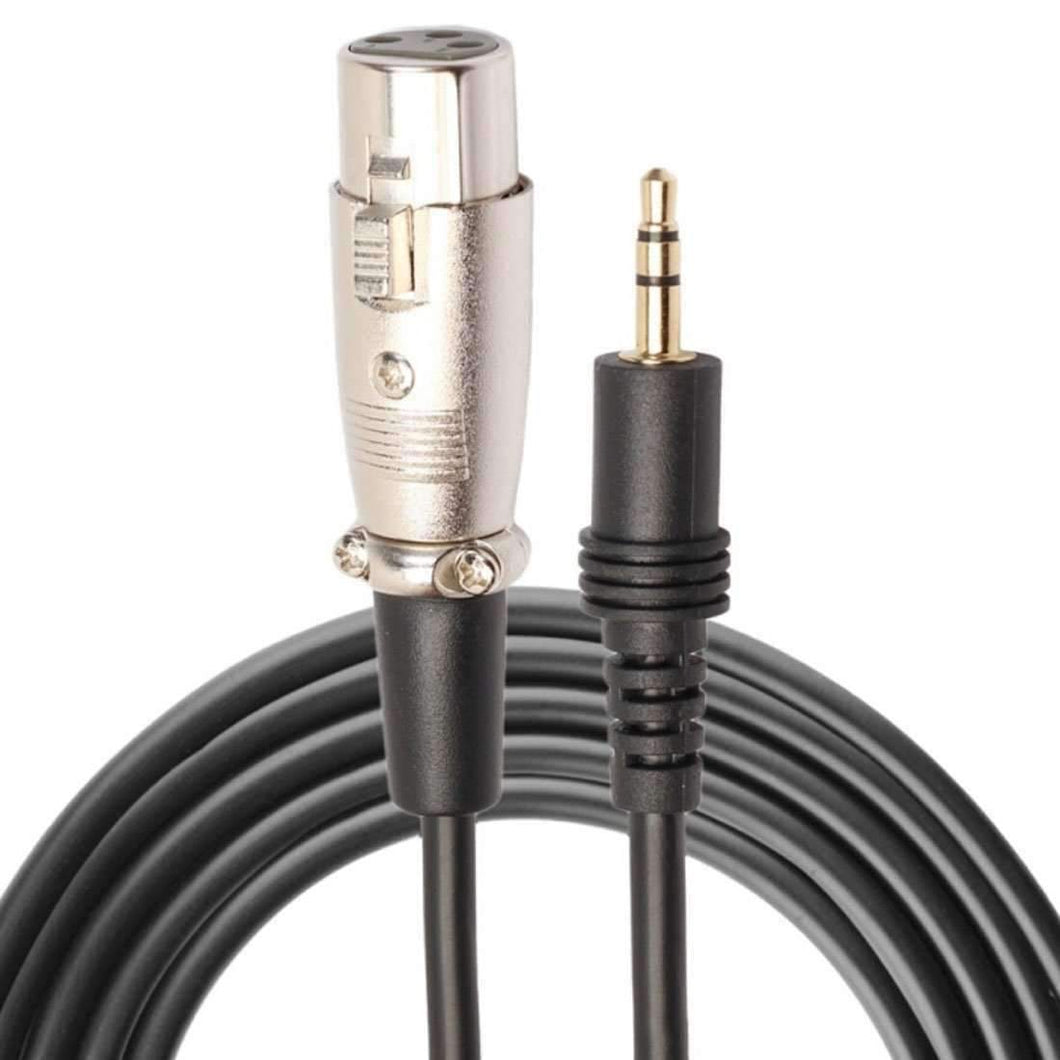 3.5mm Male to XLR Female Microphone Audio Cord Cable - 3m - amzer