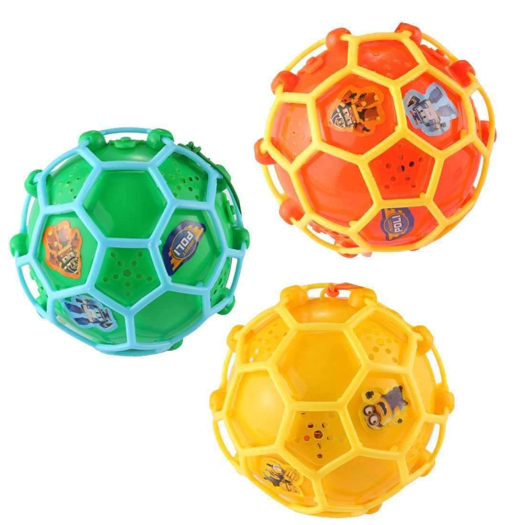 3 PCS Electric Dance Music Crazy Ball LED Children Creativity Bouncing Ball Toys, Random Color Delivery - amzer