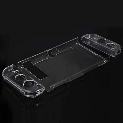 AMZER 4 in 1 Crystal Hard Shell Case for Nintendo Switch Body and Gamepad TNS-1710 - Transparent - amzer