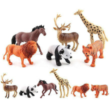 Load image into Gallery viewer, 6 in 1 Cute Animal Kingdom Decoration Toys Set - amzer