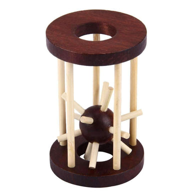 Prison Break Brain Teaser IQ Puzzle Wooden Adult Educational Toys - amzer