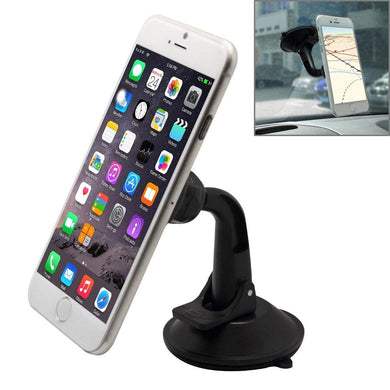 Universal Magnetic Car Dashboard Suction Mount for Smartphone - Black - fommystore