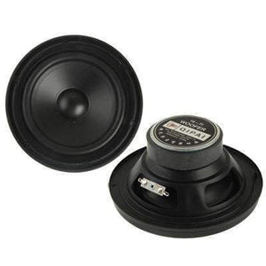 30W Midrange Speaker, Impedance: 8ohm, Inside Diameter: 4.5 inch(Black) - amzer