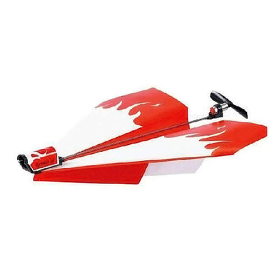 DIY Creative Power Up Airplane Rechargeable Airplane Electric Paper Airplane for Kids(Red) - amzer