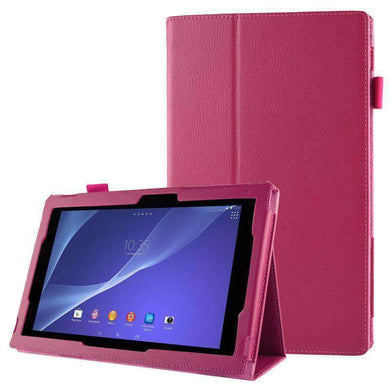 AMZER Texture Leather Case with Holder For Sony Xperia Tablet Z2 10.1 - Magenta - amzer