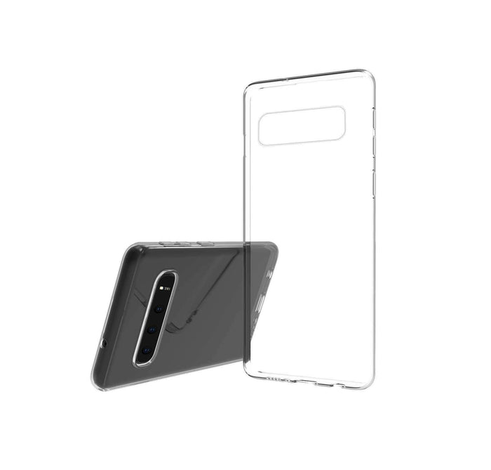 AMZER Ultra Slim Clear TPU Soft Protective Case for Samsung Galaxy S10 - Clear - amzer