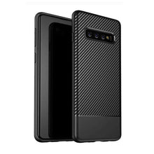 Load image into Gallery viewer, AMZER Carbon Fiber Texture TPU Case for Samsung Galaxy S10 - Black - amzer