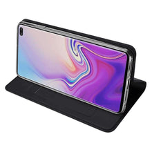 Load image into Gallery viewer, AMZER Flip Leather Wallet Case for Samsung Galaxy S10 Plus - Black - amzer