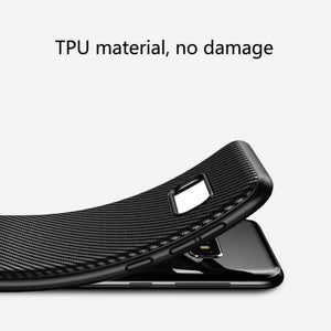 AMZER Carbon Fiber Texture TPU Case for Samsung Galaxy S10 Lite - Black - amzer