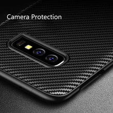 Load image into Gallery viewer, AMZER Carbon Fiber Texture TPU Case for Samsung Galaxy S10 Lite - Black - amzer