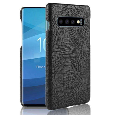 AMZER Premium Crocodile Texture Dual Layer Hybrid Case for Samsung Galaxy S10+ - fommystore