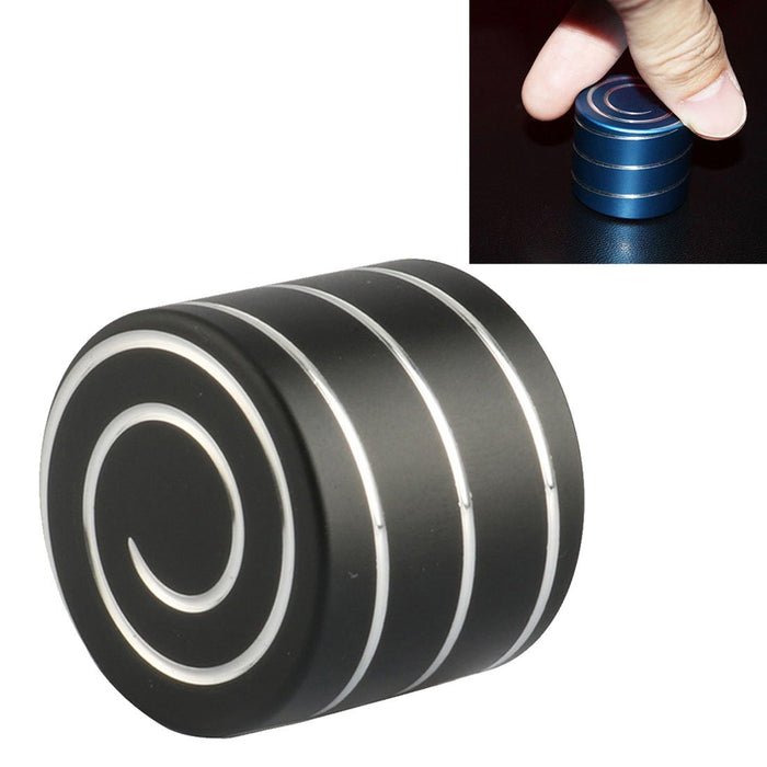 Dynamic Desktop Toy Stress Reducer Anti-Anxiety Aluminum Alloy Spinning Toy(Black)