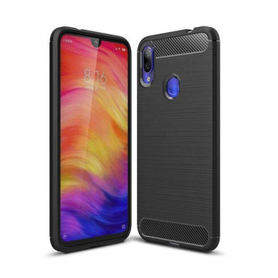 AMZER Rugged Armor Carbon Fiber Design ShockProof TPU for Xiaomi Redmi Note 7 - fommystore