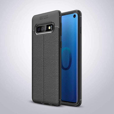 AMZER Premium Leather Texture Design Slim TPU Case for Samsung Galaxy S10 Plus - fommystore