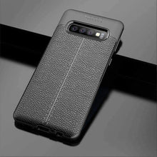 Load image into Gallery viewer, AMZER Premium Leather Texture Design Slim TPU Case for Samsung Galaxy S10 - fommystore