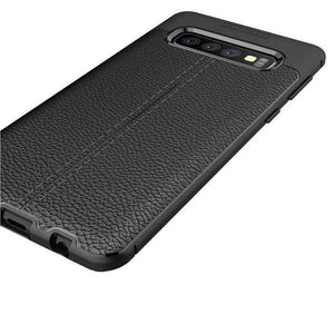 AMZER Premium Leather Texture Design Slim TPU Case for Samsung Galaxy S10 - fommystore