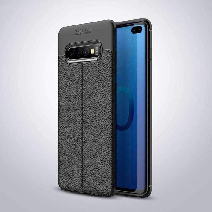 AMZER Premium Leather Texture Design Slim TPU Case for Samsung Galaxy S10 Lite - fommystore