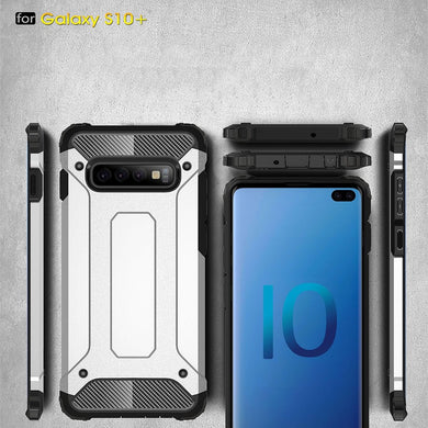 AMZER Hybrid Dual Layer Rugged Armor Case for Samsung Galaxy S10 Plus