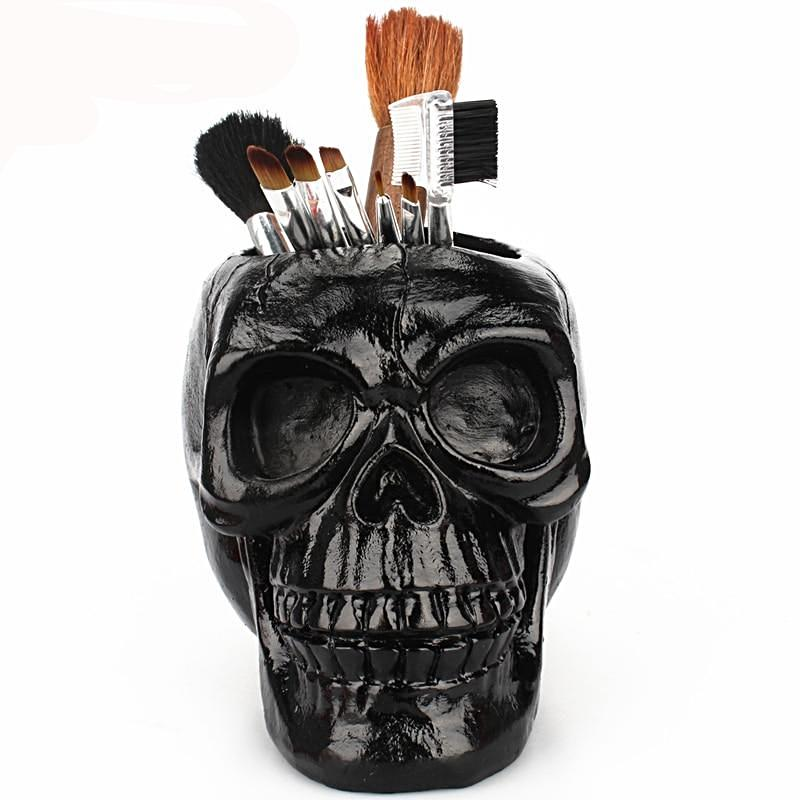 3D Skull Head Figurine Skeleton Ornament Holder