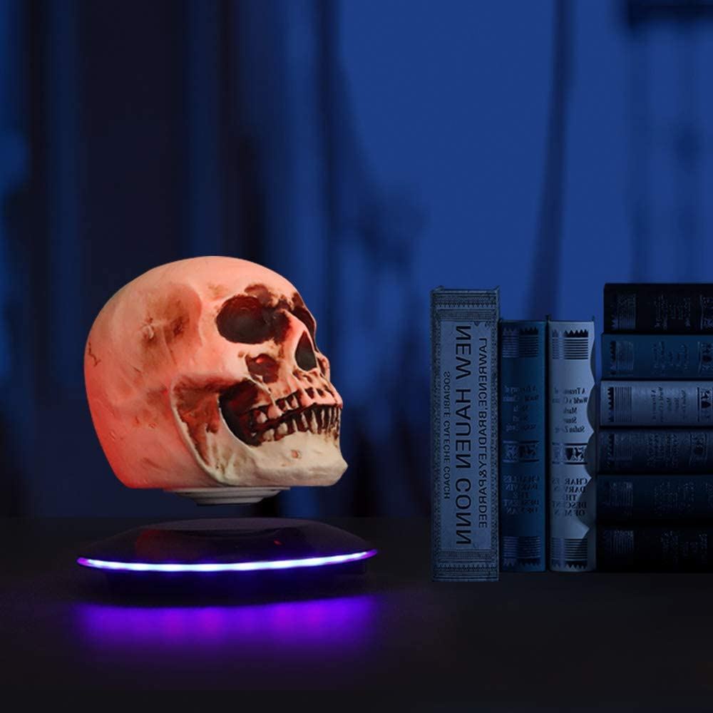 3D Floating Skull Head