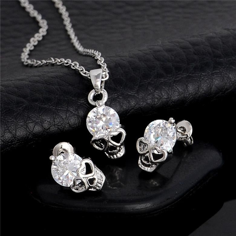 gothic skull accessory skull jewelry skull necklace gift for women