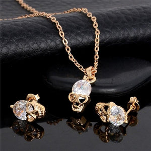 gothic punk skull accessory skull jewelry skull necklace gift for women